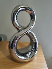 Figure 8 Free Standing Silver/ Chrome Ornament 30cm High