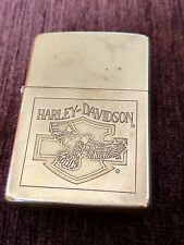 Zippo Harley Davidson Solid Brass Anniversary 1932-1990 Extremely Rare !!!