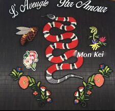 Snake patch / Tattoo Patch / fashion / Embroidered patch / Sew on patch / Set
