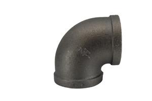 "Black Malleable Iron 90 Degree Elbow 40mm (1 1/2"")"