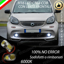 COPPIA LAMPADE FENDINEBBIA H16 LED COB CANBUS SMART FORTWO FORFOUR 453 6000K
