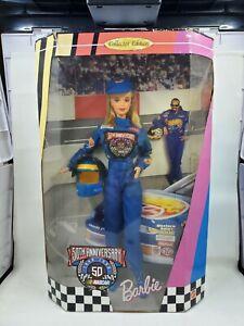 50th Anniversary NASCAR Barbie Doll in the original unopened box L78