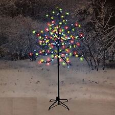 new 150cm led blossom tree multi coloured christmas indoor decoration outdoor