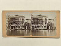 Venezia Palais Ca' Oro Foto Stereo Vintage Albumina c1865