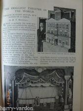 Worlds Smallest Theatre Model Antique Victorian Photo Article 1899 Frank Davey