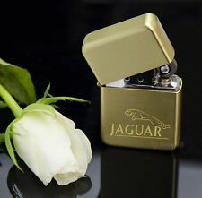 GOLD - ENGRAVED lighter JAGUAR - in metal tin - Petrol - Personalised
