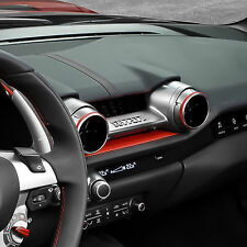 Genuine Ferrari 812 Superfast BLACK Air Vent Rings Kit #70005002