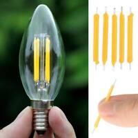 10Pcs LED COB Solar Power Filament Super Bright Bulb Light Source Lighting Tool