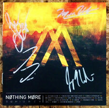 NOTHING MORE S/T Signed By All 4 Members CD Booklet +FREE Rock Metal Stickers!