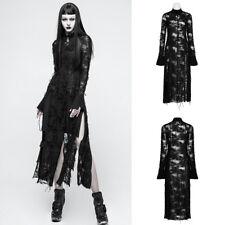 Punk Rave OPQ-200 Womens Black Gothic Punk Mesh Dress Coat