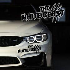 The White Beast Auto Aufkleber Motorspor Tuning Sticker Limited Edition Black