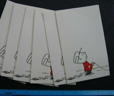 5 Vintage Hallmark Charlie Brown Christmas Cards Kite in Tree Peanuts Greeting