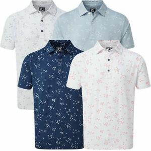 FootJoy Men's Golf Flock of Birds Lisle Print Polo Shirt