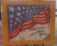 WW2 Era Silk Scarf- Painted American Flag- 7th Army SSI.