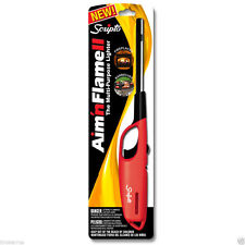 Scripto multi purpose BUTANE LIGHTER barbeque grill fireplace Aim and Flame Red