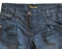 New Womens Dark Blue Tapered NEXT Jeans Size 12 Petite Leg 28 LABEL FAULT RRP£32
