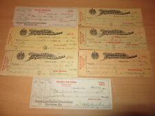 7 1920s/1930s Brooks Brothers Pontiac Buick Cambridge MD Used Bank Checks
