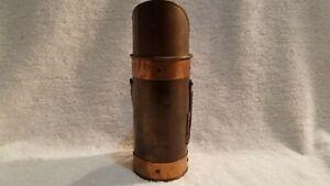 Vintage tin matchstick holder
