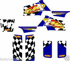 Yamaha Banshee Blue FMF Graphics Kit Fenders Plastics Decals Stickers 350 ATV