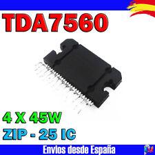 TDA 7560 TDA7560 AMPLIFICADOR DE AUDIO ST 4X 45 W ZIP-25 IC