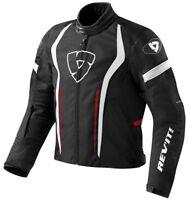 GIACCA MOTO JACKET REV'IT REVIT RACEWAY NERA ROSSO BLACK RED TG L