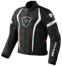 GIACCA MOTO JACKET REV'IT REVIT RACEWAY NERA ROSSO BLACK RED TG S