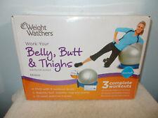 New Weight Watchers Belly, Butt, & Thighs Fitness Ball 3 Levels W/ Dvd