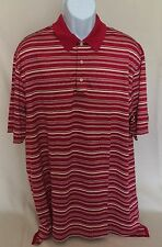 Pre-owned Brooks Brothers Country Club Performance Knit XL Red Striped Polo EUC