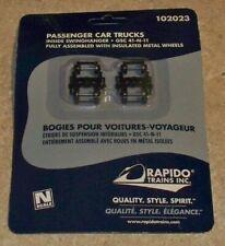Rapido 102023 PASSENGER CAR TRUCKS INSIDE SWINGHANGER TRAINS N SCALE