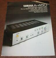 Yamaha A-450 Integrated Amplifier Original Sales Brochure