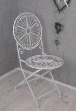 Iron chair Shabby Chic Garden folding chair white iron garden seat
