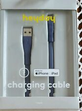 heyday™ ~ Navy Blue ~ iPhone/iPad ~ Charging Cable ~ 3' Long ~ Lightning to USB