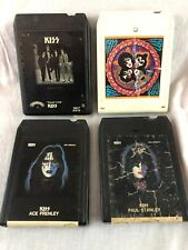 Vintage Kiss 8 Track Tapes Rock & Roll Over - Dressed To Kill Ace and Paul Solo