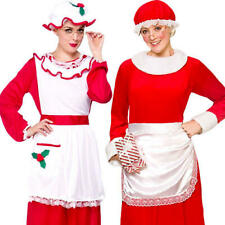 Classic Mrs Santa Claus Womens Fancy Dress Christmas Xmas Ladies Adults Costumes