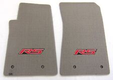 Chevrolet Camaro 2PC Custom Fit Carpet Floor Mats Grey w/RS Logo Fits: 2010-2015