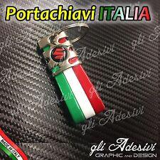 Portachiavi Bandiera Tricolore Italia Auto Moto SUZUKI Rosso