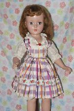 "LOVELY!! Vintage 20"" Sweet Sue Hard Plastic Strung Doll Original Dress"