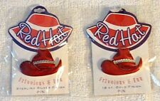 Red Hat Society Pins * Frivolous & Fun * 18 KT. Gold or Sterling Silver Finish