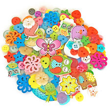 Random 150 Mix Wood Acrylic & Resin Buttons For Cardmaking Embellishments