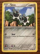 KLINK Pokemon Card BLACK & WHITE New 74/114 COMMON Mint / Near Mint METAL Type