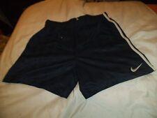 "T1 Da Uomo Nike Vintage Poliestere Unlined Calcio Pantaloncini Sportivi D6 M 34 ""Blu Navy"