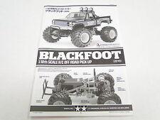 NEW TAMIYA BLACKFOOT 2016 Manual Parts Guide TE10