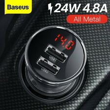 Baseus 4.8A Dual USB Car Charger Fast Charging Adapter for Samsung S10 iPhone XS