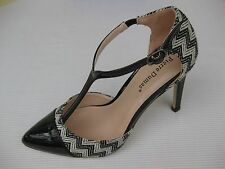 Pierre Dumas Womens Shoes NEW  $50 Alessia Black T-Strap Pump 10 M