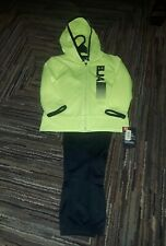 NWT UNDER ARMOUR BOYS 2 PIECE ZIP UP JACKET SWEATPANTS SET YELLOW