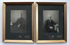 alte Fotografien, Zwei Porträts von Ehegatten, ein schönes Set, Zutphen Holland