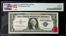 1957 $1 S.C Large Ink Smear With Rejection Tag Error-Frn-Pmg #64Epq Ch Unc-Rare