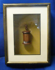 Handcrafted Bamboo/Wood container by Malay Archipeligo natives in Display Case