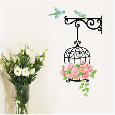 Bird Cage Flower Wall Stickers Wallpaper Decor Home Art Wall Decal HY