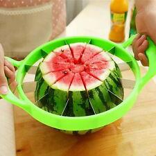 Watermelon Cutter Cantaloupe Melon Slicer Stainless Steel Kitchen Fruit Divider